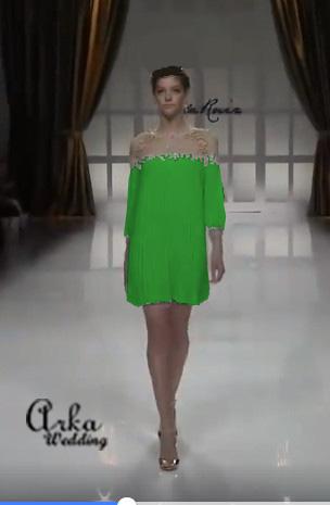 Φόρεμα, Δαντέλα και Chiffon. Κωδ. 93687