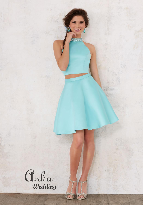 00d9e3898be Βραδινό Φόρεμα Satin Damas Κεντημένο Κρύσταλλα. Κωδ. 9442