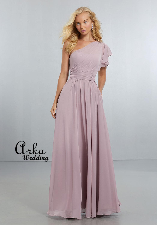 Βραδινό Φόρεμα, από Chiffon, με έναν Ώμο. Κωδ. 21554