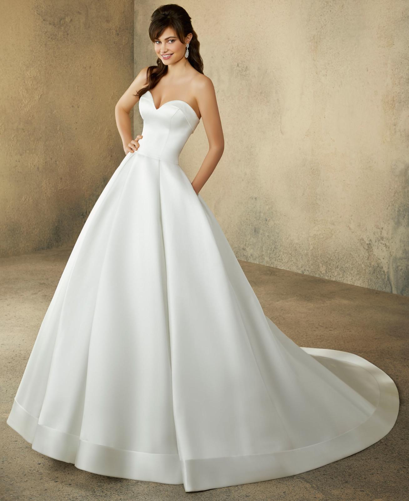 Νυφικό Φόρεμα, MORILEE, by Madeline Gardner, duchess satin, Style. 2094