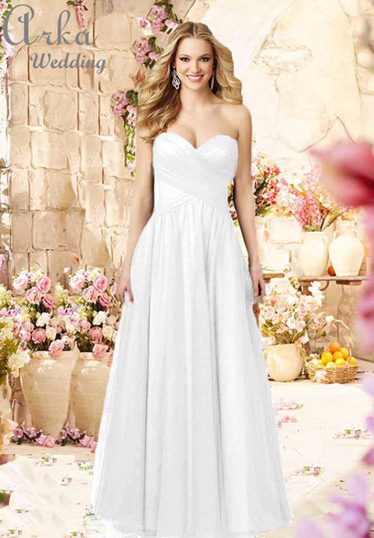Νυφικό αέρινη φούστα με Ντραπαριστό μπούστο  Κωδ. 112