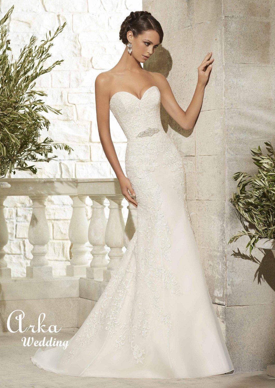 Νυφικό Φόρεμα, Δαντέλα Κεντημένη, Κωδ. 5307