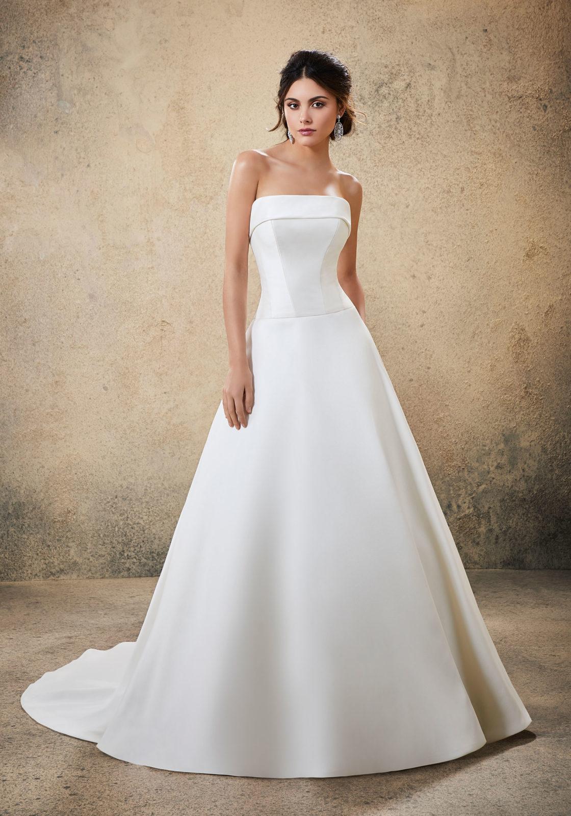 Νυφικό Φόρεμα, Larissa Satin, Απλό, Morilee . Style. 5778