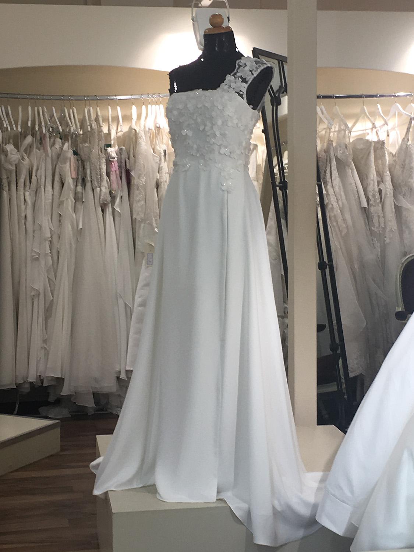Νυφικό Φόρεμα, Chiffon και Δαντέλα Κωδ. 95572