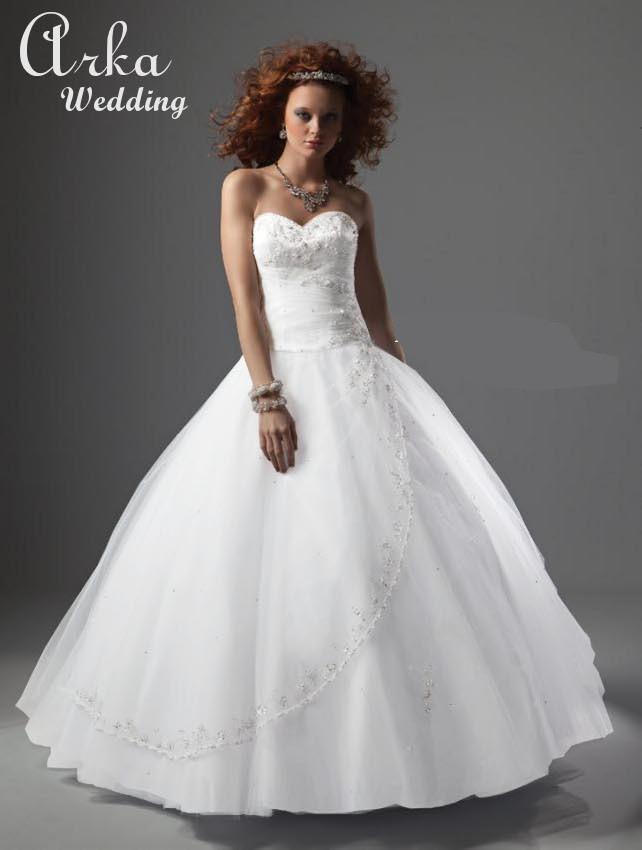 Νυφικό Φόρεμα, με Πλούσια Φούστα. Κωδ. 86023