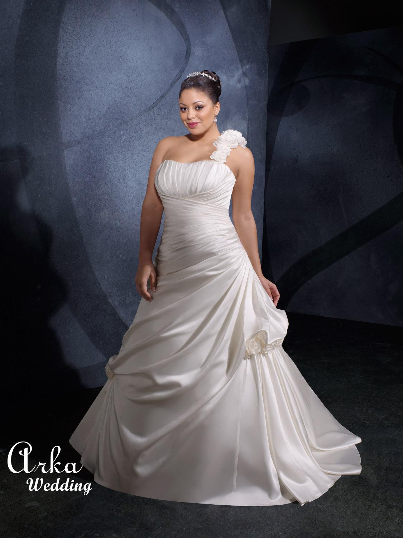 Νυφικό Φόρεμα, Satin, Λευκό,.. Κωδ. 3071