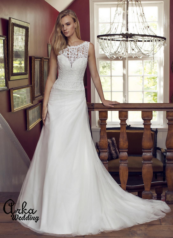 Νυφικό φόρεμα, Boho, Απλό, Κομψό και Ανάλαφρο. Κωδ. DAPHNE