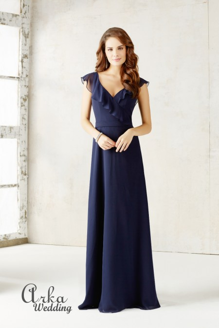 e451308599f2 Βραδινό Μακρύ Φόρεμα Chiffon. Κωδ. 21527